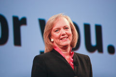 Président et Directeur Général Meg Whitman de HP Image libre de droits