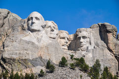Présidents célèbres des USA sur le monument national du mont Rushmore, sud Photos libres de droits