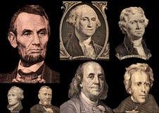 Présidents des États-Unis de portrait Photo stock