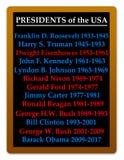 Présidents Etats-Unis Images stock