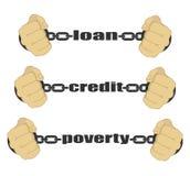 Préstamo, crédito, muestra abstracta de la pobreza Fotografía de archivo libre de regalías
