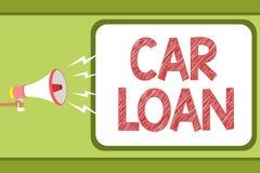 Préstamo de coche del texto de la escritura Significado del concepto que toma el dinero del banco con interés grande de comprar a libre illustration