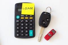Préstamo de coche y concepto del alquiler con opción a compra del coche Foto de archivo libre de regalías