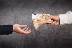 Préstamo del dinero imagen de archivo libre de regalías