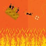 Prévention d'aller à l'enfer dans un handbasket Photos libres de droits