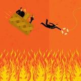 Prévention d'aller à l'enfer dans un handbasket Images libres de droits