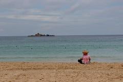 Prévision au rivage de mer Photographie stock libre de droits