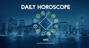 Prévision de calendrier astral d'horoscope la future signe le concept illustration libre de droits