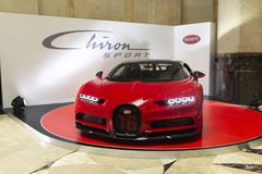 Prévision de sport de Bugatti Chiron Photos libres de droits