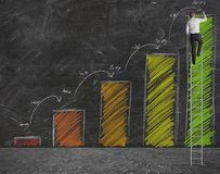 Prévision des statistiques Images stock