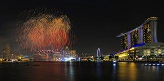 Prévision du défilé 2011 de jour national de Singapour Image stock