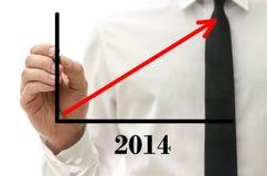 Prévision financière optimiste pendant l'année 2014 Photos stock