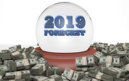 Prévisions 2019 d'affaires et prévision du marché illustration libre de droits