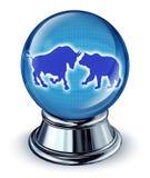 Prévisions de marché boursier Images stock