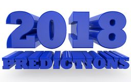 2018 prévisions du ` s de nouvelle année Illustration Libre de Droits