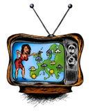Prévisions météorologiques à la TV Photographie stock libre de droits