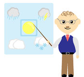 Prévisions météorologiques illustration stock