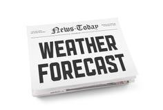 Prévisions météorologiques Photo stock
