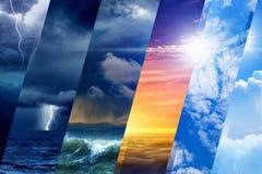 Prévisions météorologiques Photo libre de droits