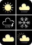 Prévisions météorologiques 3d Photos stock