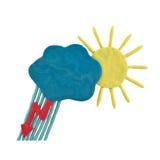 Prévisions météorologiques de pâte à modeler Photos libres de droits