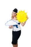 Prévisions météorologiques ensoleillées photo libre de droits