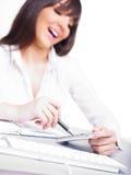 Prévoir avec le sourire images stock