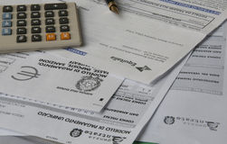Prévoyez l'impôt photographie stock