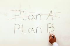 Prévoyez a, le plan B. Photo stock