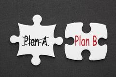 Prévoyez un concept du plan B image libre de droits