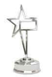 Prêmio de prata da estrela no suporte Foto de Stock