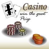 Prêmio do casino Fotografia de Stock Royalty Free