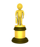 Prêmio dourado para o homem de negócios Fotos de Stock
