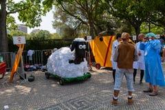 Prêmio grande da raça do Soapbox de 3 Red Bull em Lisboa Fotos de Stock Royalty Free