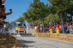 Prêmio grande da raça do Soapbox de 3 Red Bull em Lisboa Fotografia de Stock