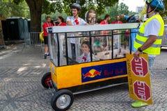 Prêmio grande da raça do Soapbox de 3 Red Bull em Lisboa Foto de Stock Royalty Free