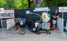 Prêmio grande da raça do Soapbox de 3 Red Bull em Lisboa Foto de Stock