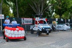 Prêmio grande da raça do Soapbox de 3 Red Bull em Lisboa Imagem de Stock Royalty Free