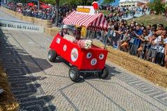 Prêmio grande da raça do Soapbox de 3 Red Bull em Lisboa Imagens de Stock