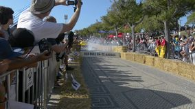 Prêmio grande da raça do Soapbox de 3 Red Bull em Lisboa video estoque