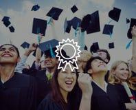 Prêmio VIctory Success Achievement Concept da recompensa do crachá Fotografia de Stock Royalty Free