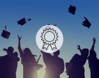 Prêmio VIctory Success Achievement Concept da recompensa do crachá Imagem de Stock Royalty Free