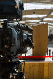 Prêt pour la reproduction photographique visuel professionnel pour la radiodiffusion de conférence Photos libres de droits