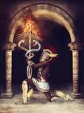 Prêtre antique d'imagination illustration libre de droits
