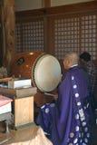 Prêtre bouddhiste, Miyajima, Japon photo libre de droits
