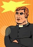 Prêtre de super héros Images stock