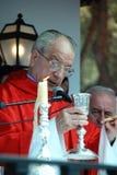 Prêtre espagnol donnant le sermon, Marbella Image libre de droits