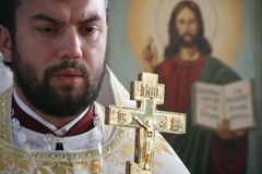 Prêtre orthodoxe Image stock