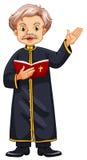 Prêtre prêchant de la bible illustration stock