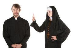 Prêtre vilain photographie stock libre de droits